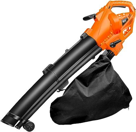 Sopladores de jardín,Secador de pelo industrial,Soplador de hojas eléctrico,Limpieza de hojas y escombros de jardín,Con bolsa de recolección de gran capacidad de 35L: Amazon.es: Hogar