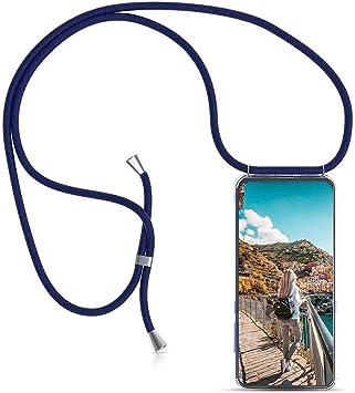 Ptny Case Funda Colgante movil con Cuerda para Colgar Samsung Galaxy S7 Carcasa Correa Transparente de TPU con Cordon para Llevar en el Cuello con Ajustable Collar Cadena Cord/ón en Rosa