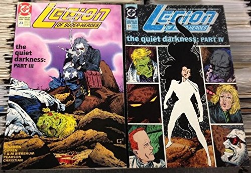 LEGION OF SUPER-HEROES #'s 21, 22, 23, 24 COMPLETE VF/NM THE QUIET DARKNESS SET