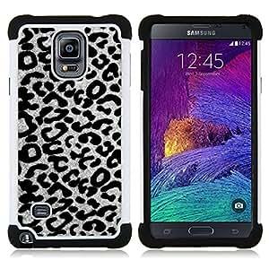 For Samsung Galaxy Note 4 SM-N910 N910 - black white grayscale animal Dual Layer caso de Shell HUELGA Impacto pata de cabra con im??genes gr??ficas Steam - Funny Shop -
