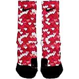 HoopSwagg Bursting Hearts Custom Elite Socks