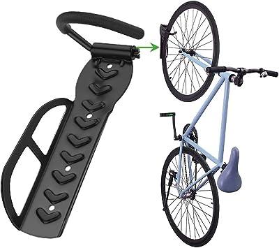 Nuovoware Soporte de Pared para Bicicletas, Ganchos para Bicicleta de Acero Ajustable para Bicicleta, Retención de Montaje con Tornillos Ahorro de Espacio para Colgar Bicicletas Soporta hasta 66 lb: Amazon.es: Bricolaje y