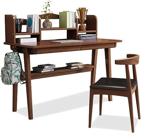Juego de mesa para silla de escritorio para niños Computadora de escritorio con estantería de oficina escritorio de la estación de trabajo de escritorio y estudio Biblioteca Tabla for Ministerio del I: