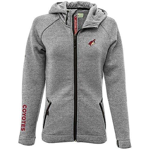 Levelwear LEY9R NHL Arizona Coyotes Adult Women Motion Insignia Bold Full Zip Hooded Jacket, Medium, Heather Pebble