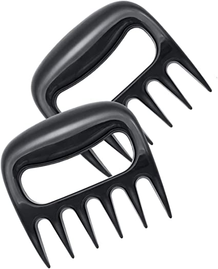 Professional Meat Processing Barbecue Tools-Easy to Lift and Chop Meat Heat-Resistant Nylon and Easy to Clean KunYi BBQ Meat Claws,Pulled Pork Shredder Bear Claws Transport 2 pcs