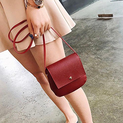 Handbag Shell Messenger Small PU Women Leather Bag Phone Red Widewing Shoulder Crossbody x4f7Rqw