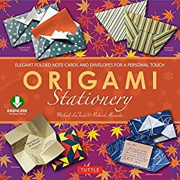 origami stationery downloadable material included kindle