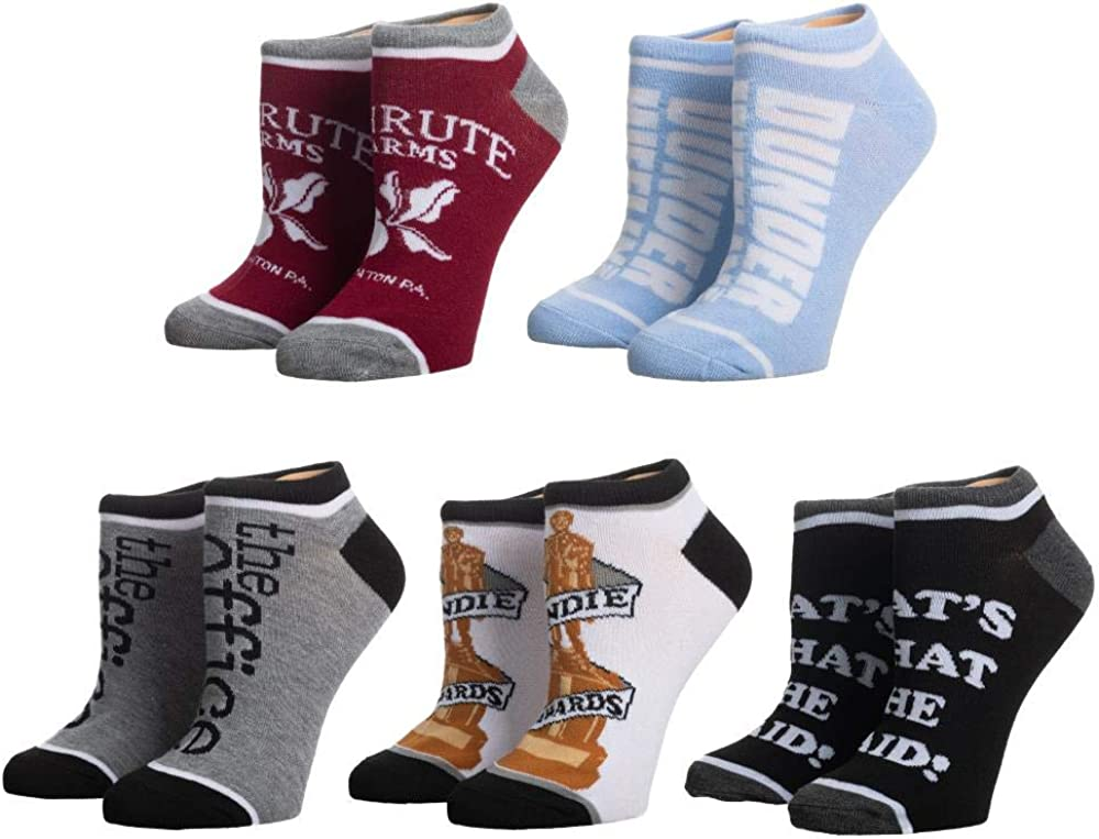 The Office 5 Pack of Ankle Socks