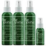 Bug Soother Spray - Natural Insect, Gnat and Mosquito Repellent & Deterrent - DEET Free - Safe Bug Spray for Adults, Kids, Pe
