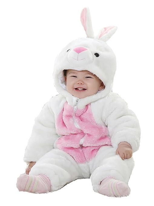 Conejo Animal Bebé Disfraz 3 – 24 M manga larga de franela One piece bebé ropa