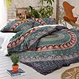 NANDNANDINI- perfect christmas gift Indian Mandala Duvet Cover, Queen size Blanket, Quilt Cover, Indian Bedspread, Bohemian Bedding, Double Bedspread With pillow cases Cotton Duvet Cover , Doona cover