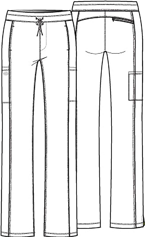 Dickies Dynamix Women Scrubs Pant Mid Rise Straight Leg Drawstring DK130: Clothing