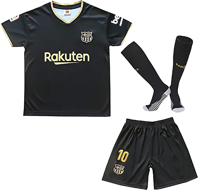 Kids Football Jersey 2020/2021 Season Messi #10 Youth Sport T-Shirts & Shorts & Socks