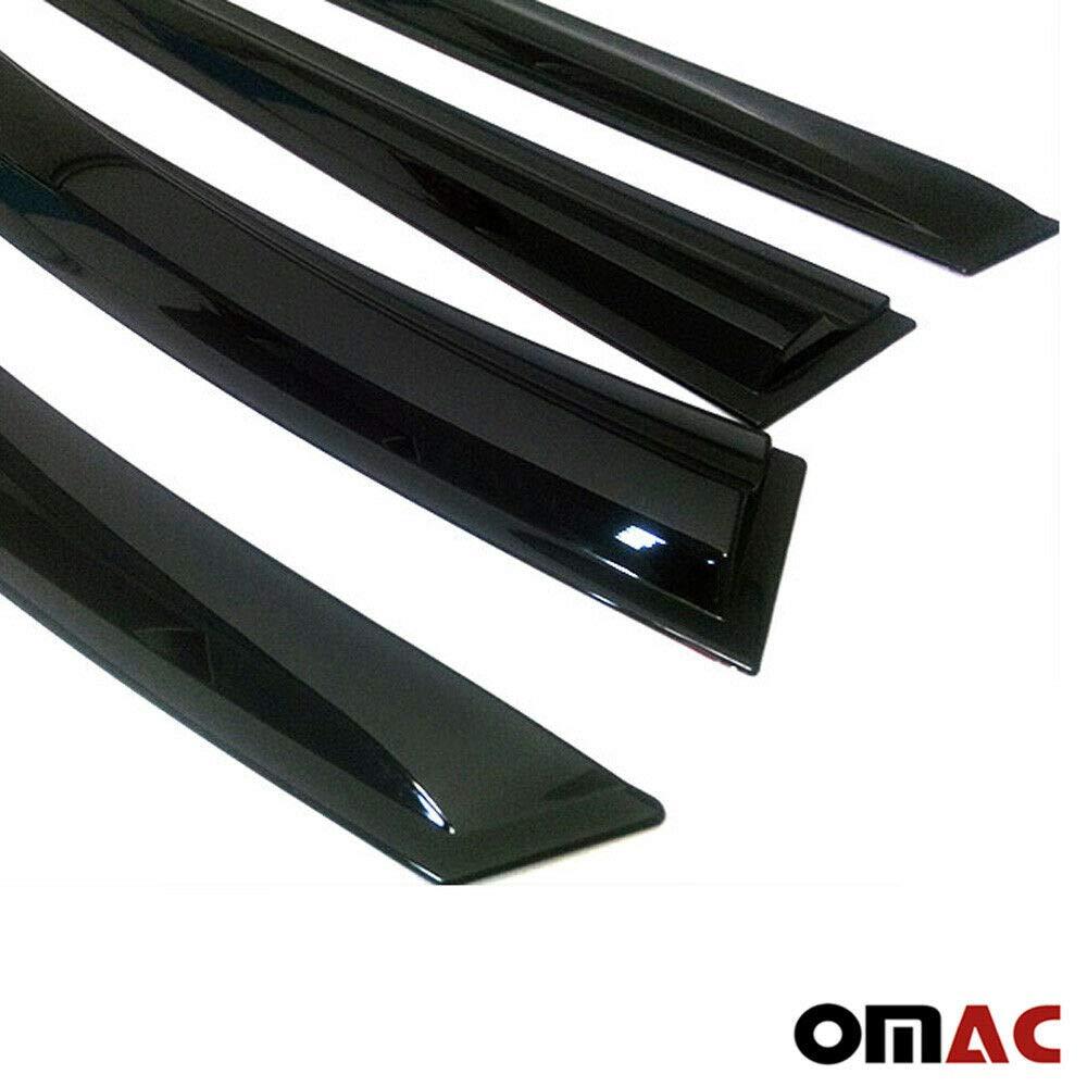 Colore: Nero 4 Pezzi OMAC GmbH Frangivento per Astra H 2004-2013