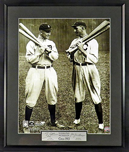 - Detroit Tigers/Cleveland Indians Ty Cobb & Joe Jackson Circa 1913 11x14 Photograph (SGA Signature Engraved Plate Series)