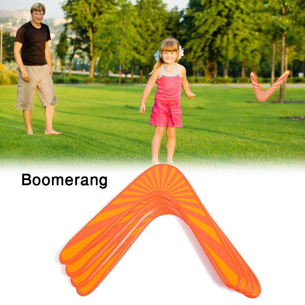 Orange Blue-Yan Boomerang en Bois Jeux de fl/échettes en Forme de V pour Sports de Plein air Jouets pour Enfants