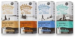 Wildway Grain-free, Keto Hot Cereal Variety Pack, 7 .oz ea, Pack of 4