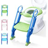 Potty Training Toilet Seat with Step Stool Ladder for Kids Children Baby Toddler Toilet Training Seat Chair with Soft…