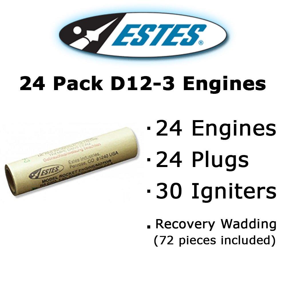 Estes D12-3 Model Rocket Engines (24 pack)