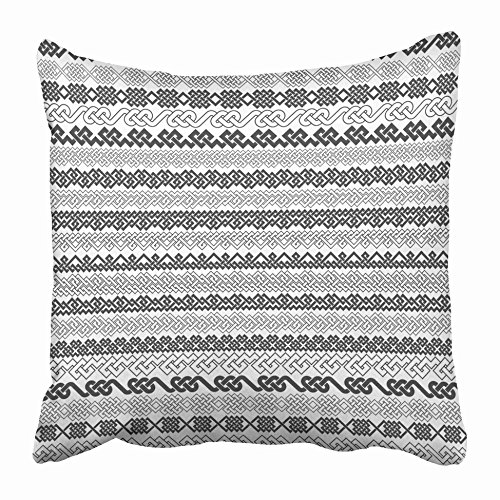 - Emvency Throw Pillow Covers 20 x 20 Inches Vintage Borders Twenty for Frames in Knotting Style Patterned Brushes Kit Pillow Case Decorative Cushion Cover Two Sides Print Pillowcase