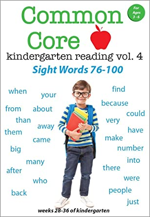 Amazon.com: Common Core Kindergarten Reading - Volume 4 - Sight ...