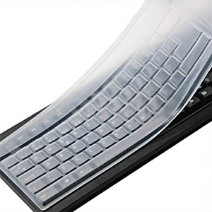Clear Desktop Computer Keyboard Cover Skin for PC 104/107 Keys Standard Keyboard, Anti Dust Waterproof Keyboard Protective Skin