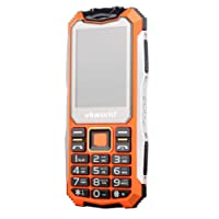 Homyl Rugged Tough Unlocked Cell Phone 2200mAh Battery Waterproof Shockproof and Dustproof Phone VKworld New Stone V3S - Orange
