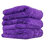 "Chemical Guys MIC35803 Edgeless Microfiber Towel (Purple, 16"" x 16"" Happy Ending)"