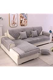 TEWENE Couch Cover, Sofa Cover Couch Covers Sectional Couch Covers Anti-Slip Sofa Slipcover for Dogs Cats Pet Love Seat Recliner Living Room Grey 36''x94''(Sold by Piece/Not All Set)