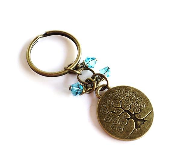 Amazon.com: Tree of Life Keychain Bag Charm Yoga Accessories ...