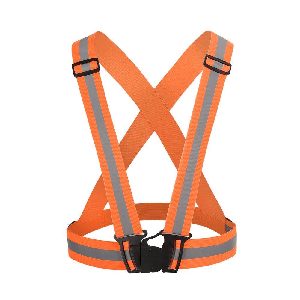 wildeal ajustable seguridad seguridad chaleco de alta visibilidad reflectante para noche corriendo chaleco