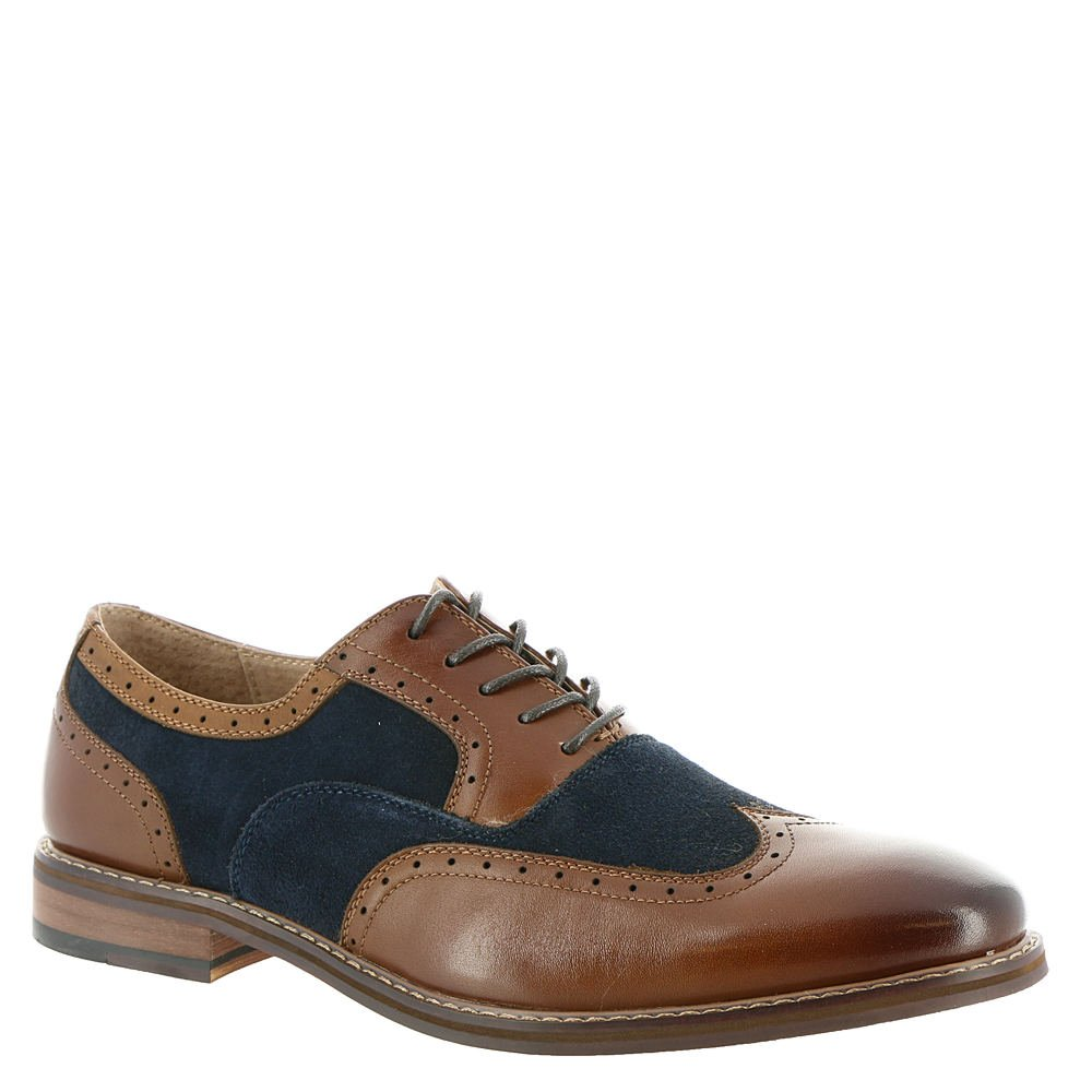 Stacy Adams Mens Ansley Wingtip Oxford (25130), Brown and Navy, 8.5 M (25130-989)