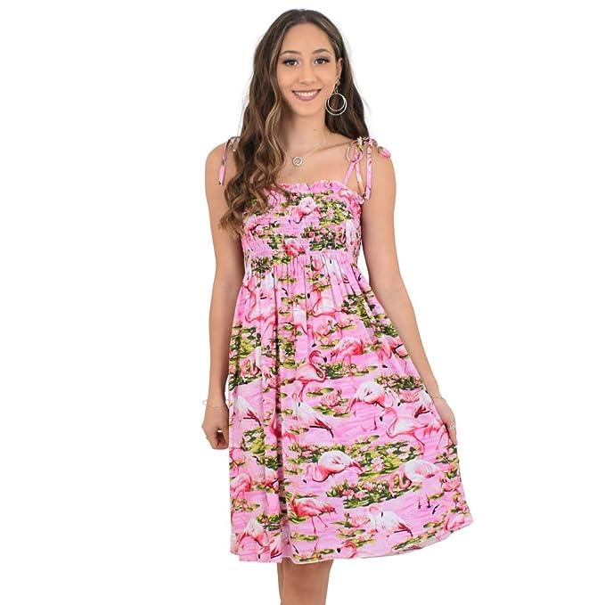 b4bd428c72 Island Style Clothing Ladies Tube Dress Pink FLAM  Amazon.com.au ...