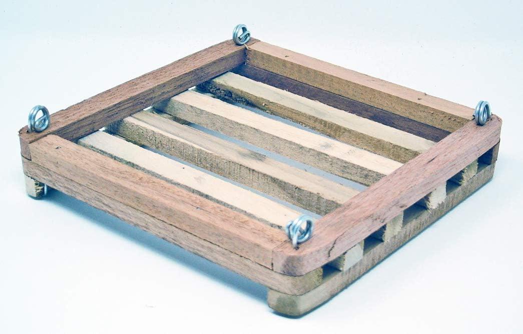 Placa de montaje plana de listones de madera. 30, 48 cm.: Amazon.es: Jardín
