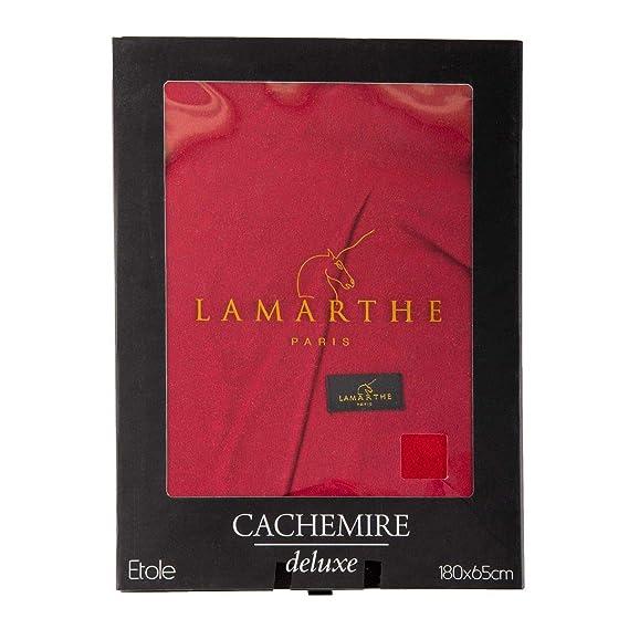 34944986b8a Lamarthe Écharpe étole cachemire Maxance 180x65cm Homme ROUGE - 180 ...