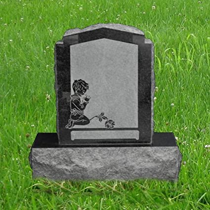 amazon com american black granite upright monument gravemarker