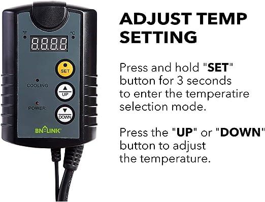 Century Digital Cooling Temperature Controller Thermostat cool 40-108F  5-24 C