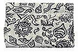 Traditioanl India Cotton Queen Blanket,Block Pirnt Kantha Reversible Quilt , Wedding Kantha Quilt Vintage Kantha Throw Bedroom Beddiing Floral Gudri Ralli Bedspreads Kantha Quilt 90x108''