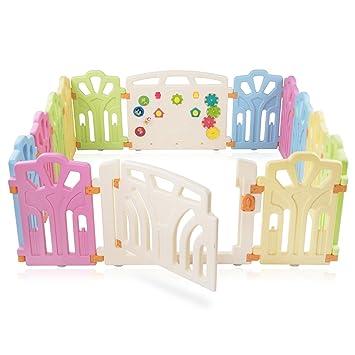 Baby Vivo Baby Plastic Playpen 4 Side Foldable Portable Room Divider