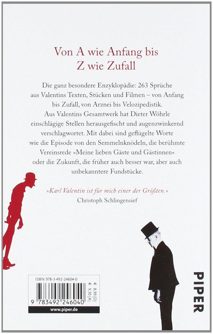 Mein Komisches Wörterbuch Karl Valentin 9783492246040