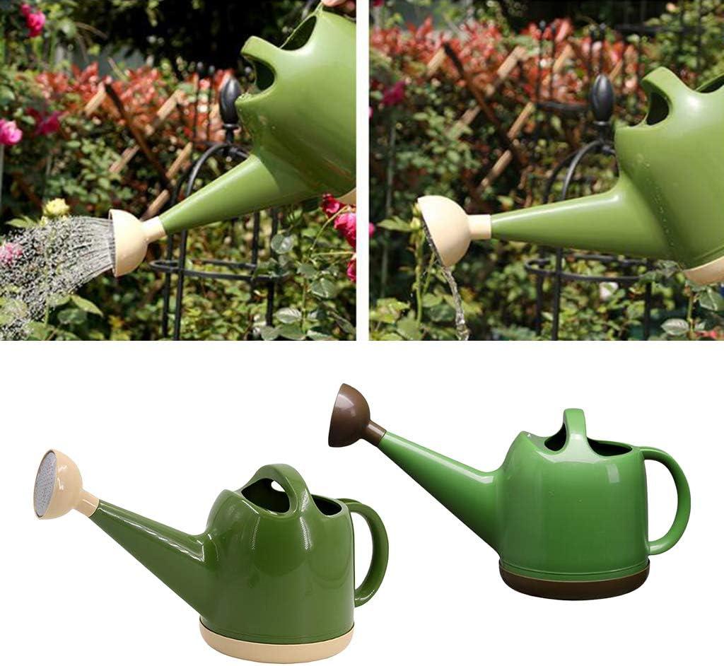 Ej/ército Verde FLAMEER Regadera De Pl/ástico Regadera De 4 L Flores Regadera De Jard/ín Regadera para Bons/ái Plantas De Interior Balc/ón De Jard/ín marr/ón