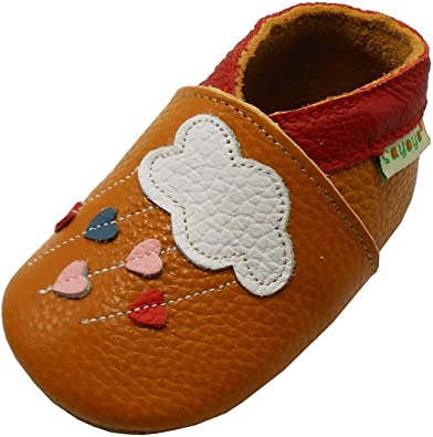 Sayoyo Baby Cloud Soft Sole Leather Infant Toddler Prewalker Shoes