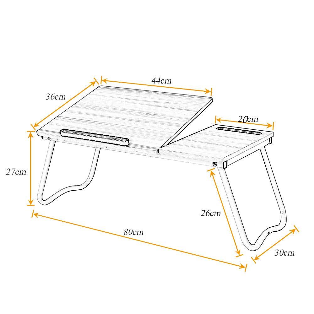 A1-2-MP soges Supporto per laptop Tavolo regolabile /Lap Desk Tavolo pieghevole con piano inclinabile Vassoio da letto