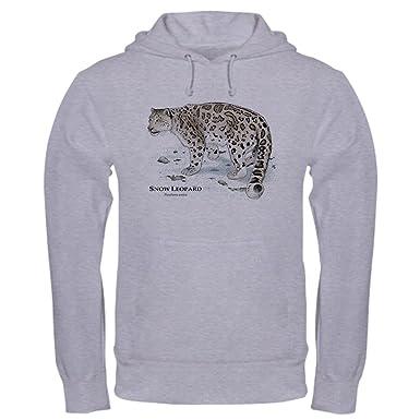 9d72fe7649ac CafePress Snow Leopard Pullover Hoodie, Classic & Comfortable Hooded  Sweatshirt