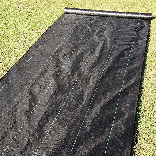 Yescom 6ft x 250ft Landscape Fabric 4.1oz Weed Barrier Woven PP with UV Treated Block Mat Ground Cover Outdoor Garden by Yescom