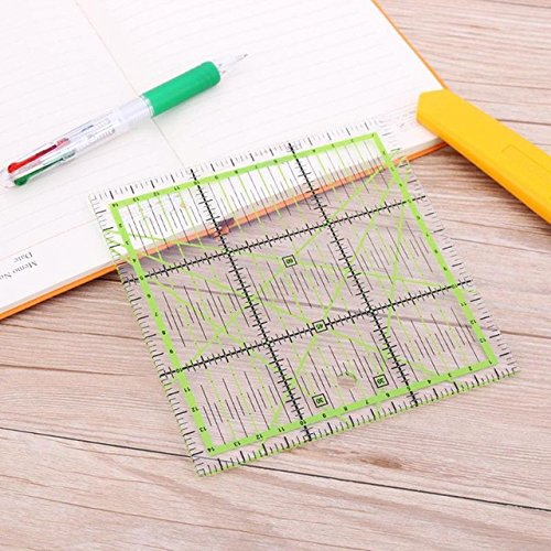 Square Cutting Ruler - 1 Piece Square Patchwork Feet Tailor Yardstick Cloth Cutting Rulers Sewing Tool Arts Crafts Sewing Accessories 15x15cm