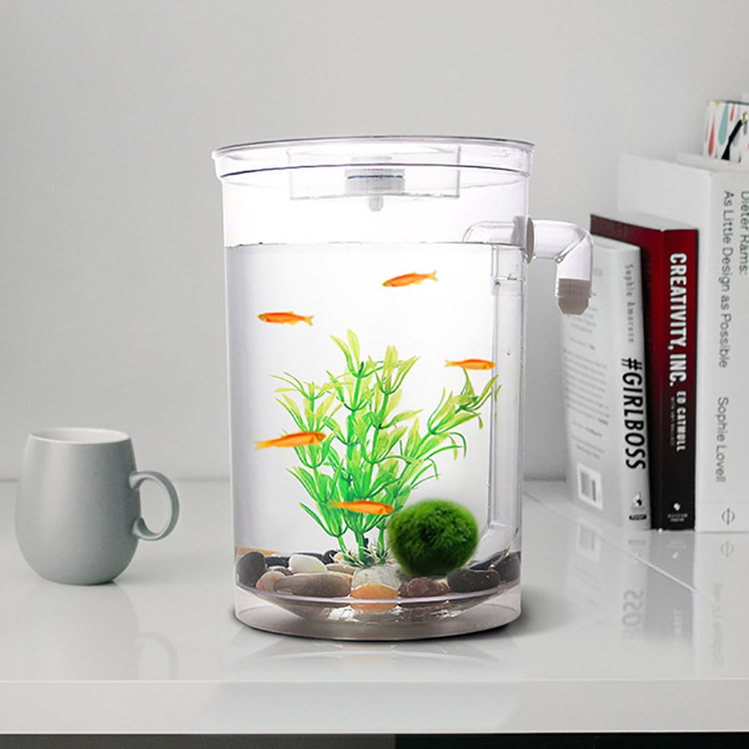 Legendog Pecera Kit De Acuario Tanque PláStico Del Tanque De Acuario De Agua Que Cambia De Agua AutomáTico Con La Luz Del LED: Amazon.es: Productos para ...
