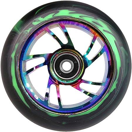 Paar TEAM DOGZ 100mm /& 110mm Neochrome Regenbogen /& Gold Ufo hohl Kern Roller R/äder ABEC11 Lager passt auch f/ür Sacrifice MGP