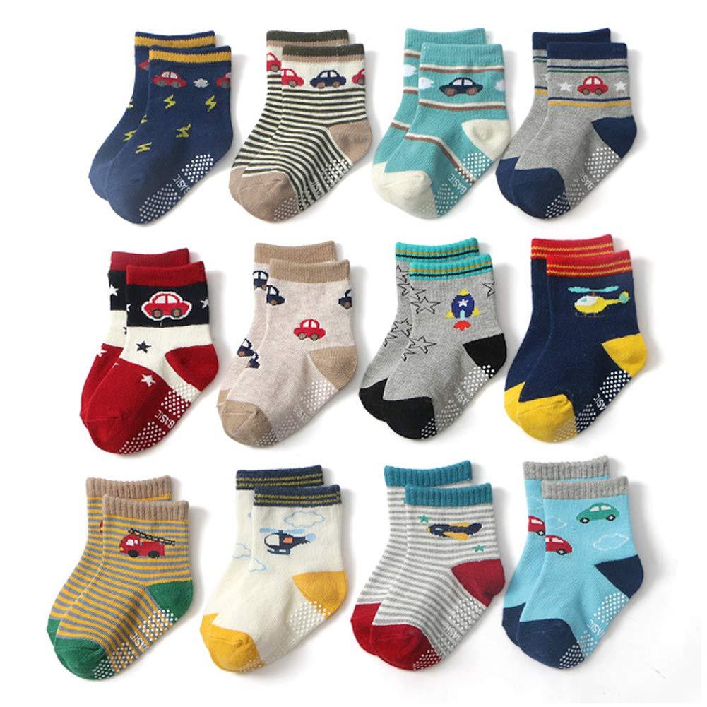 Set A 0-1 Jahre Ceguimos 12er Pack Baby Kleinkinder ABS Antirutsch Socken