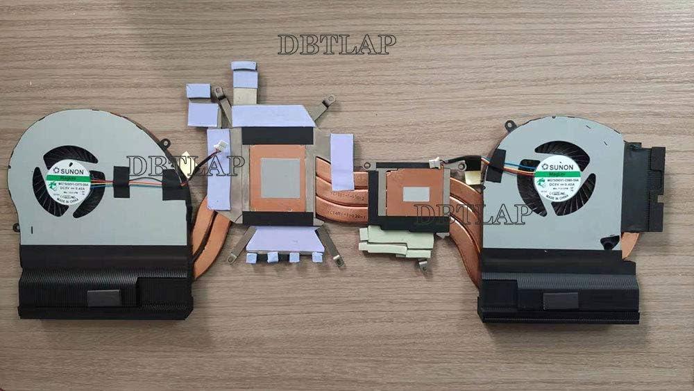 DBTLAP Laptop Heatsink /& Fan Compatible for DELL for Alienware 17 R5 CN-Y6MN4 0Y6MN4 AT26T002ZC0 Cooling Fan with Heatsink